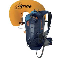 The SCOTT Air Free AP 12 Pro is a light and compact avalanche pack, with trail-running inspired harness shoulder strap system and D3O(R) backprotector.