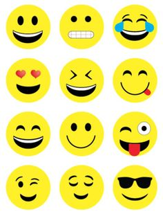 20 Free Printable Emojis Photo Booth Props Emoji Printables