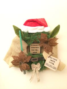 Our Yoda wreath we made for the school auction.  So cute!!