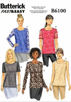 Butterick Sewing Patterns, Easy Sewing Patterns, Simplicity Sewing Patterns, Clothing Patterns, Dress Patterns, Sewing Ideas, Sewing Projects, Shirt Patterns, Fashion Patterns