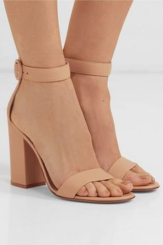 Heel measures approximately 4 inches Beige leather Buckle-fastening ankle strap Made in Italy Nude Heeled Sandals, Leather Sandals, Shoes Sandals, Sophie Buhai, Rossi Shoes, Stylish Sandals, Leather Buckle, Ankle Straps, Shopping
