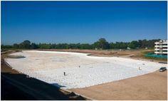 Avanza la colocación del liner de nuestra #CrystalLagoons en #LagoonPilar