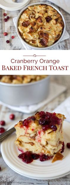 This luscious Pressure Cooker Cranberry Baked French Toast is a perfect holiday breakfast. Tart fresh cranberries in a sweet orange sauce are topped with cubed Challah bread soaked in butter, milk, and eggs, and then baked to create a bread pudding styl Baked French Toast Casserole, French Toast Bake, Breakfast Bake, Best Breakfast, Breakfast Fruit, Breakfast Recipes, Breakfast Ideas, Breakfast Club, Breakfast Casserole