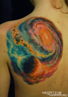 60 Tatuajes del espacio impresionantes