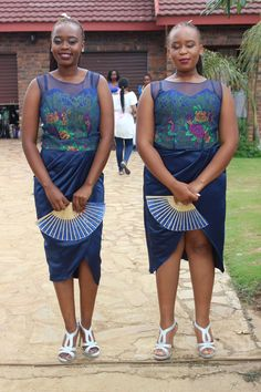 Tsonga traditional wedding. Bridesmaids dresses
