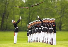 US Marine Corps silent drill platoon. It takes the best of the best to be on this team.