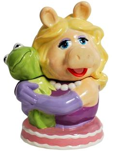 Kermit & Miss Piggy  Cookie jar
