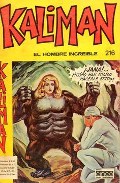 Kaliman comic.. Wish I knew Spanish what a weird cover.