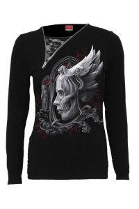 Spiral - Langarm Shirt mit Zipper und Spitze - Dark Fusion