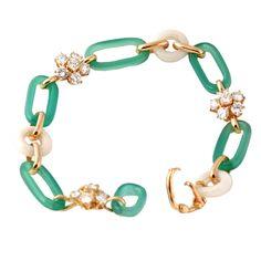 VAN CLEEF & ARPELS Chalcedony Diamond Gold Bracelet (via @1stdibs)
