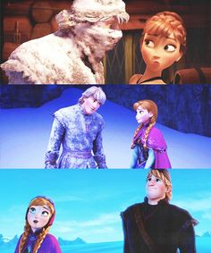 Anna and Kristoff ohhh dat face