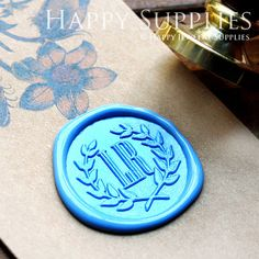 1pcs Custom Initial Gold Plated Wax Seal Stamp (WS176)