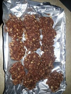 "THM Version of chocolate, peanut butter, oatmeal no bake cookies  LOOK!!! IT'S an ""E"" COOKIE!!!!"