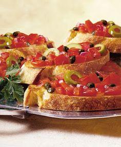STAR Olive Bruschetta - a perfect summer appetizer