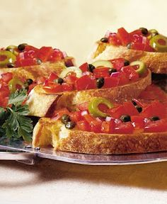 Star Olive Bruscetta~This is the BEST Bruschetta I've been making it for several years now!