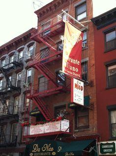 Little Italy Mulberry Street NYC New York City Lower Manhatten