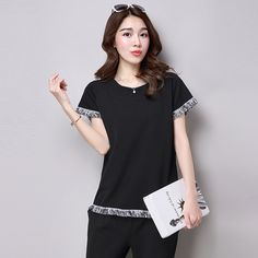 >> Click to Buy << 5xl plus big size blusas feminina spring summer 2017 korean women top new tassel black white cute sweet t-shirts female A3463 #Affiliate