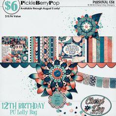 Lolly Bag 2 - PU {by Cheryl Day Designs} 12th Birthday, Birthday Celebration, Happy Birthday, Lolly Bags, Cheryl, Digital Scrapbooking, Design, Products, Happy Brithday