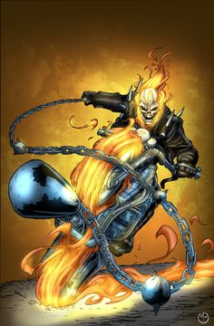 Ghost Rider by ~1314, colours by Marc Bourcier *
