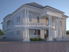 5 Bedroom Modern House Plans Awesome 6 Bedroom Duplex Ref No 6011 In 2019 6 Bedroom House Plans, 3 Bedroom Bungalow, House Plans Mansion, Duplex House Plans, Modern House Plans, Bedroom Apartment, Classic House Design, Modern House Design, Home Building Design