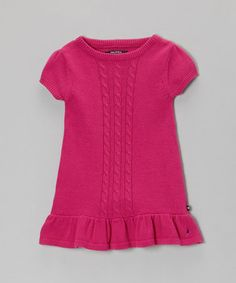 $19. Take a look at this Bright Pink Sweater Dress - Infant & Toddler by Nautica on #zulily today!