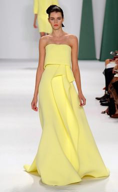 Carolina Herrera - S/S '15 (New York)- color me yellow