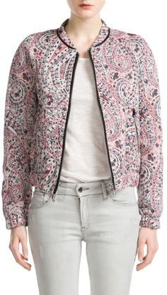 MANGO Jacquard Bomber on shopstyle.com