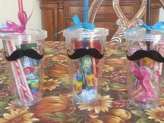 Mustache cup party favors
