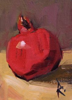cathleen rehfeld • Daily Painting: Studies for Larger Paintings - Pomegranate 2 - sold