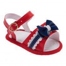 e88cd3b8af Sandália para Bebê Menina Pimpolho Vermelha com Fivela
