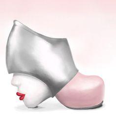 Zapatos raros que casi son una obra de arte