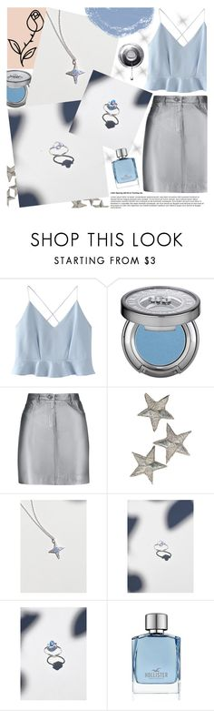 """""""Valley Rose"""" by gaby-mil ❤ liked on Polyvore featuring WithChic, Urban Decay, Pierre Balmain, Hollister Co., Blue, Silver, jewelry and valleyrose"""