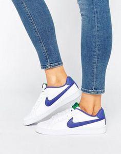 Nike - Court Royale - Baskets - Blanc et bleu