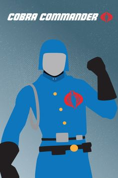 G.I. Joe Minimalist 80s Character Poster Cobra by jeffachen, $10.00