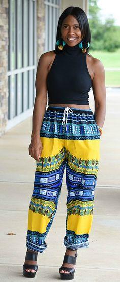African Print Pants, Crop Top, Sweenee Style, Dashiki, Indianapolis Style Blog