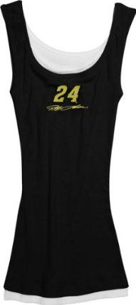 Jeff Gordon #24 Women's Prospect Rib Knit Tank Top by College Concepts. $21.99. 100% Cotton rib knit. Officially licensed. Embroidered graphics. Prospect Rib Knit Tank Tops. Flirty and fun, this Jeff Gordon #24 Women's Prospect Rib Knit Tank Top is great for wearing while you're lounging or sleeping. Made from 100% cotton jersey knit, this layered Jeff Gordon tank has an embroidered design at center chest and is a great addition to your collection of NASCAR gear.