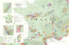 France Wine Map Poster Poster