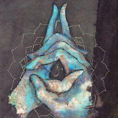 Crown Chakra Mudra by Tilly Campbell-Allen Yoga art, art for meditation, chakras, mindfulness Arte Chakra, Chakra Art, Chakra Healing, Chakra Painting, Chakra Symbols, Meditation Musik, Chakra Meditation, Kundalini Yoga, Pranayama
