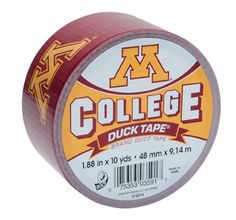 University of Minnesota College Duck Tape® brand duct tape. Learn more about this product at http://duckbrand.com/products/duck-tape/licensed/college-duck-tape/minnesota-188-in-x-10-yd?utm_campaign=college-duck-tape-general&utm_medium=social&utm_source=pinterest.com&utm_content=college-duck-tape