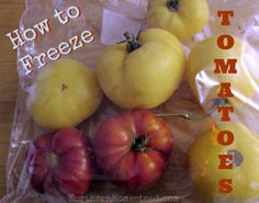 How to Freeze Tomatoes - The easiest way to preserve tomatoes
