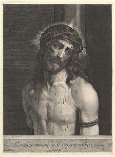 Jean Morin (French, Paris ca. 1605–1650 Paris), after Giorgione (Italian, Castelfranco Veneto 1477/78–1510 Venice) - Le Christ a la colonne. Etching, 47 x 34.5 cm. The Metropolitan Museum of Art