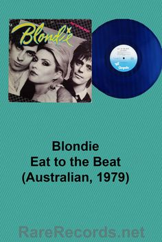 Blondie - Eat to the Beat This 1979 LP was released on blue vinyl as a limited edition release in Australia. #records #vinyl #albums #coloredvinyl