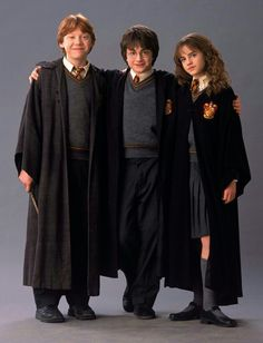 Ron Weasley, Harry Potter and Hermoine Granger