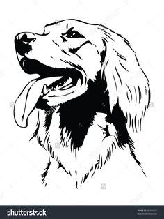 stock-vector-irish-setter-dog-head-vector-illustration-96984695.jpg (1200×1600)