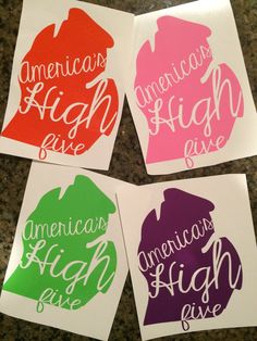 Michigan: America's High Five // car decal // by theprintedpoppy