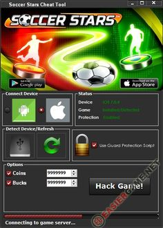 Unlimited Coins, Bucks, in Soccer Stars  Download Soccer Stars Cheats:  http://easiergame.net/soccer-stars-cheat-hack-ios-android-2014/