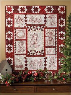 Quilting - Holiday & Seasonal Patterns - Christmas Patterns - Christmas Twitterings Quilt originally published in Redwork Winter Twitterings