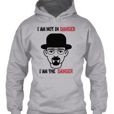 I am not in danger I am the danger breaking bad shirt/hoodie available now on my website. Follow the link in profile to buy. #breakingbad #bbad #breakingbadmarathon #follow4follow #cute #like4like #followme #hoodie #tshirtshop #tshirt #tshirts