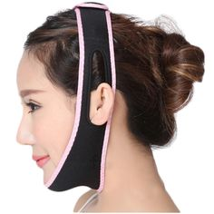 2pcs Face Lift Up Belt Reduce Double chin Sleeping Face Lift Mask Massage Slimming Face Shaper Relaxation Facial Slimming Band #Affiliate