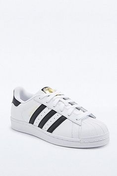 Adidas Superstar Shell Toe Trainers in White and Black